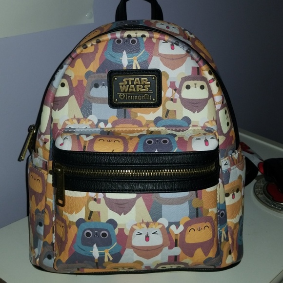 b6e8b8ce526 Loungefly Handbags - Disney Loungefly Star Wars Ewok Mini Backpack